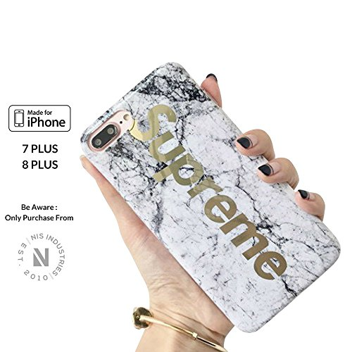 Cheap Cases Street Fashion x White Gold Marble - iPhone 7 & 8 Plus..