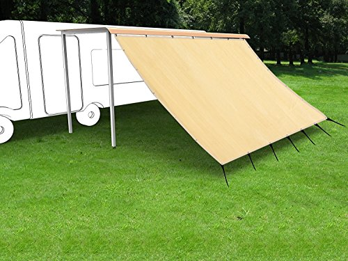 - Shatex RV Awning Shade Compelete Kits for Outdoor Shade 8x16ft Tan