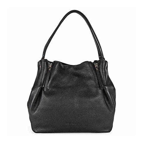 e1e38d57318a Burberry Women s Medium Check Detail Leather Tote Bag Black