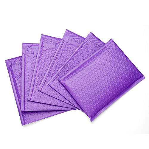 Metronic 25Pack 6x10 Purple Poly Bubble Mailers #0000 Padded Envelopes Self Seal Shipping Envelopes Shipping Bags