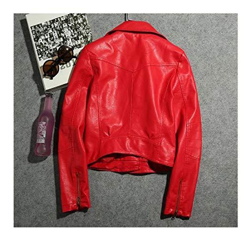 Parti Cappotto Zip Mini Cuoio Outwear Pu Rivestimento Superiori As1 Motociclista Trincea donne Howme Del v1tq6q5