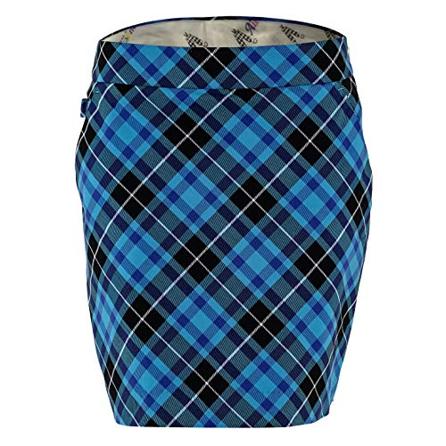 Royal & Awesome Blue Plaid Womens Golf Skort ()