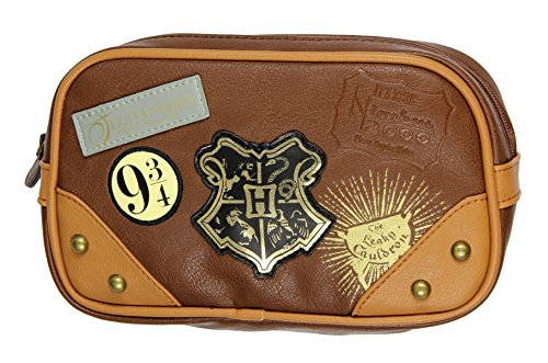 Bioworld Harry Potter Hogwarts Diagon Alley Toiletry Cosmetic Makeup Bag -