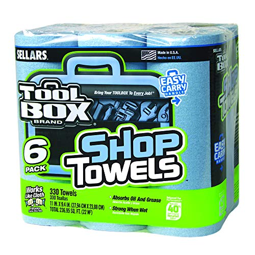 Sellars 54416 Toolbox Shop Towels 6-Pack, 11