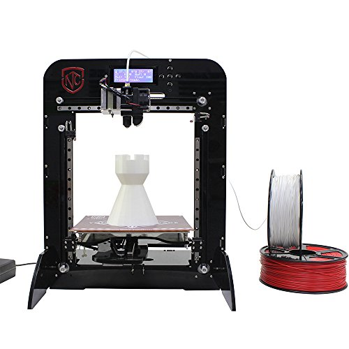 TNICE T-23 3D Printer DIY Kit with Single Extruder LCD Display Printing Size 190 190 200mm High Accuracy 0.4mm Nozzle Diameter with 5 Reels Different Colors 1.75mm PLA Filaments (Total (T23 Lcd)