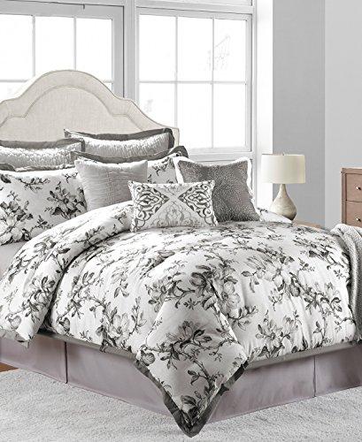 Sunham Home Fashions - Sunham Home Fashions Hillcrest Comforter Set, Off/Off/White