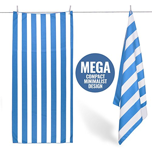Cabanana Striped Microfiber Beach Towel Super Absorbent Quic
