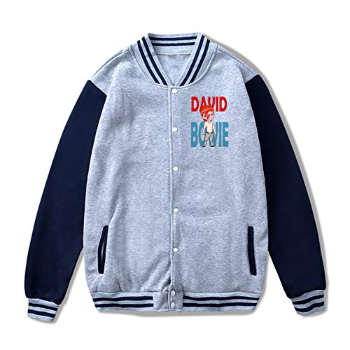 David Bowie Blackstar Unisex Fashion Stand Collar Baseball Uniform Jacket Coat Sweatshirt S ()