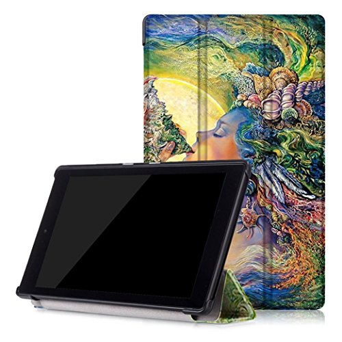 Price comparison product image GBSELL Fashion Leather Shell Case Cover For Amazon Kindle Fire HD 8 Inch Tablet (E)