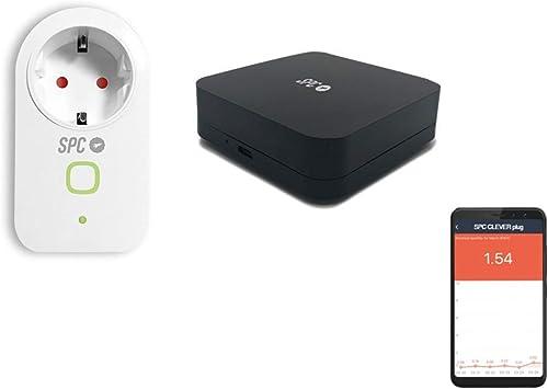 SPC Kit Iniciación Control (enchufe y mando infrarrojos inteligentes) Smart Home compatible con Amazon Alexa y Google Home: Spc-Internet: Amazon.es: Electrónica