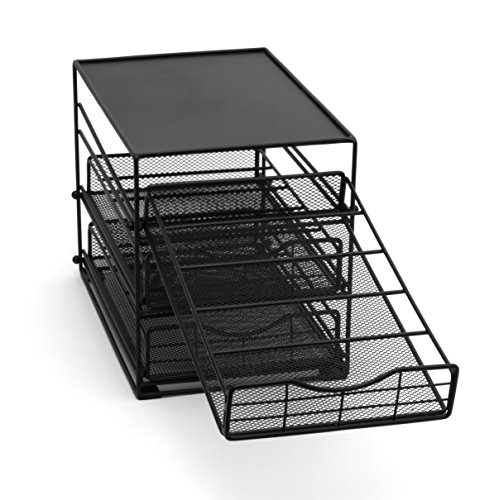 Lipper International 8670 In-Cabinet Coffee Pod Drawer, 3-Tier, 45-Pod Capacity, Black by Lipper International (Image #5)