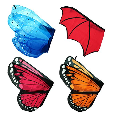 Kids Butterfly Wings 4 Sets Fancy Pretend Play Costume Dreamy Dress up for Boys (Butterfly Costumes For Boy)