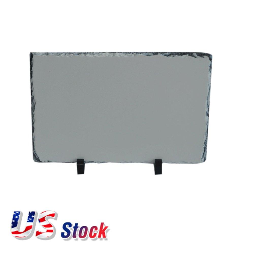 US Stock 20 x 30cm Quadrilateral Sublimation Photo Slate - 18pcs