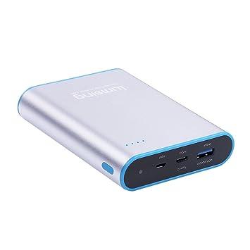 Lumsing Batería externa 13400mAh Quick Charge 3.0 Tipo-C, Cargador portátil externo, Power bank para iPhones, iPads, Samsung Galaxy, Android y otros ...
