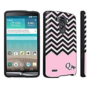 DuroCase ? LG G3 Hard Case Black - (Black Pink White Chevron Q)
