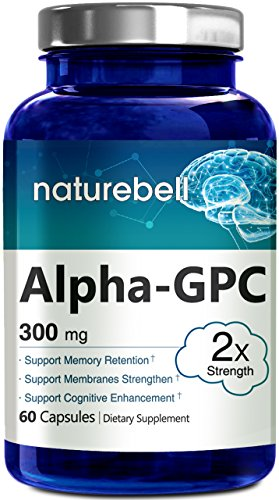 Nature Bell Alpha Gpc Choline Supplement  300Mg  60 Capsules  Pharmaceutical Grade  Made In Usa  Support Brain Function