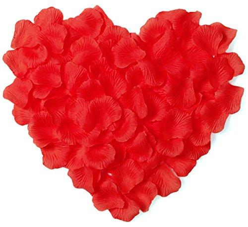 Simplicity 500pcs Silk Flower Rose Petals Wedding Party Decoration, Red