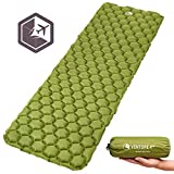 VENTURE 4TH Inflatable Sleeping Pad Ultralight, Compact, Durable, Tear Resistant, Supportive Comfy | Camping Mat Traveling, Sleeping Bag, Hammocks, Hiking More | Dark Green Review