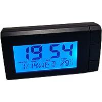 Iriisy Reloj Termómetro para Coche, 2 en 1 reloj para automóvil, pantalla digital, tablero de instrumentos para…
