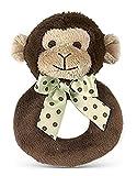 Bearington Baby Lil Giggles Monkey Ring Rattle