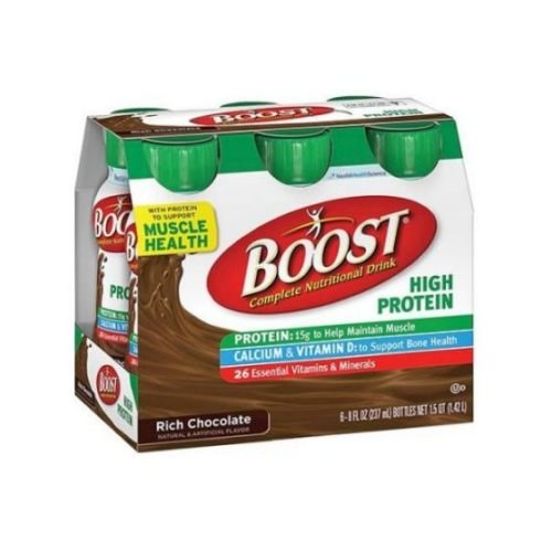 Boost Rich Chocolate High Protein Drink, 8 Fluid Ounce - 6 per pack -- 4 packs per case.