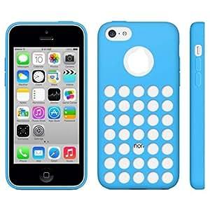 Shop Network Funda Carcasa de TPU Para IPHONE 5C, Diseño CON Agujeros, Color Azul de Terceras Partes