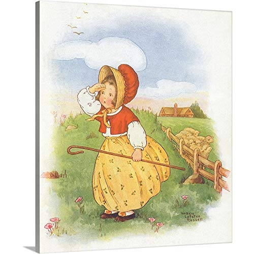 GREATBIGCANVAS Gallery-Wrapped Canvas Entitled Little Bo Peep by Mary La Fetra Russell 21