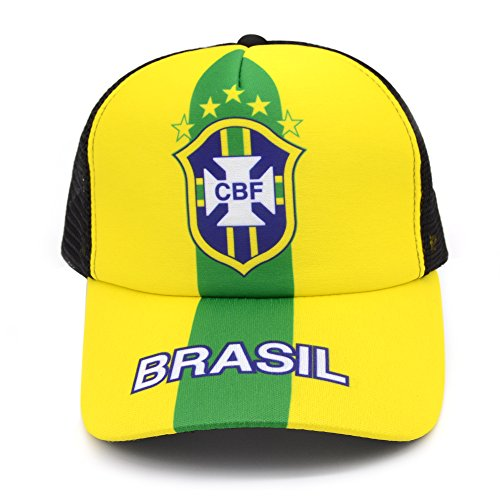 2018 Russia World Cup Fans Baseball Cap Hats, Brazil National Team Adjustable Soccer Cap - Brazil Soccer Cap
