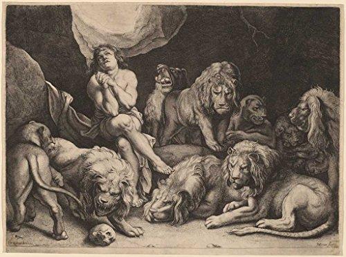 Fine Art Print   Willem van der Leeuw after Sir Peter Paul Rubens   Daniel in the Lions' Den   Vintage Wall Decor Poster Reproduction   43in x 32in