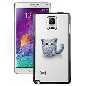 Fashionable Custom Designed Cover Case Samsung Galaxy Note 4 N910A N910T N910P N910V N910R4 With Cute Cartoon Kitten Phone Case Cover
