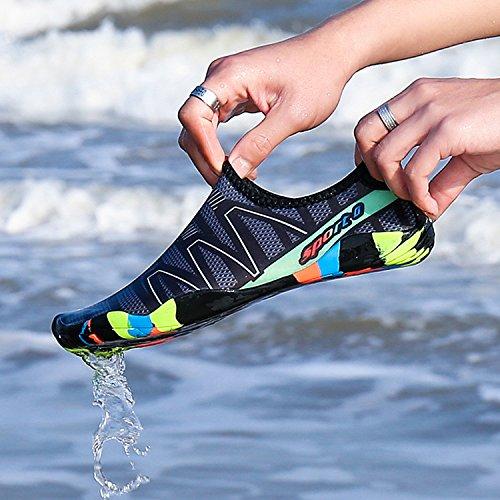 Schnelltrockene Herren Yoga Badeschuhe Aquaschuhe Schwarz Strandschuhe Weiche Surf Rutschfeste Geeignet mit Sohle Wasserschuhe b Schwimmen Damen Tauchen für Kinder XwpqXd