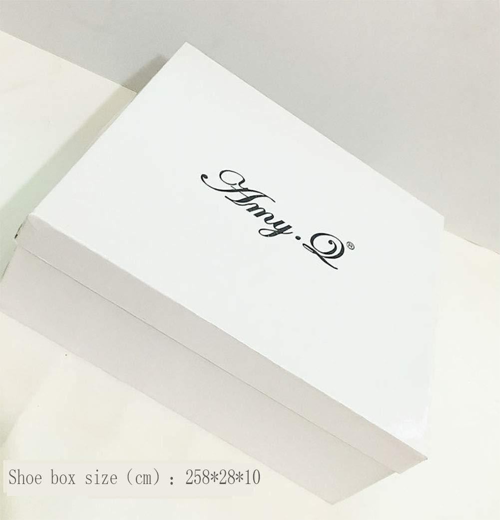 Damenschuhe Lackleder Transparente High Shallow Heel Stitching Farbe Ankle Strap Schuhe Shallow High Mund,Apricot,43EU - cd2490