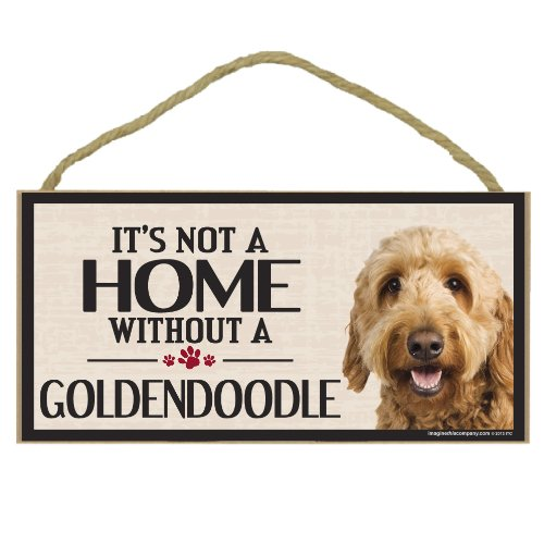 Imagine This Wood Sign for Goldendoodle Dog Breeds Imagine This Company D6046