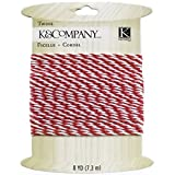 K&Company K681583 Twine 8 Yards-Pink & White