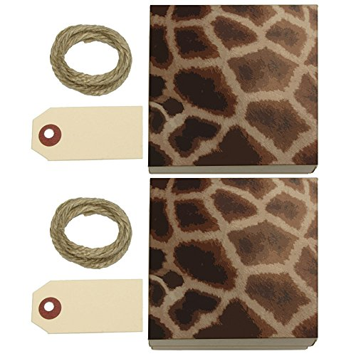 Giraffe Print Impressions Kraft Gift Boxes Set of 2