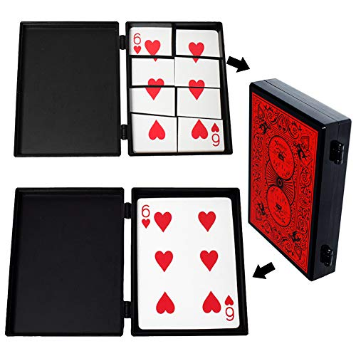 OUERMAMA Professional Torn Playing Card Restore Magic Trick Box with Video Tutorial Close Up Magic Props Gimmick Case Toy for Kids and Adults (Best Torn And Restored Card)