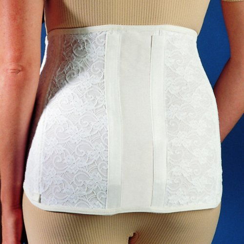 Freeman Women's Elastic Lumbar Lower Back Brace Lumbosacral Wraparound with Steel Support Stays (Freeman Brace)