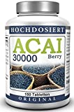 ACAI Bayas 30000 - Ultra alta dosis (50 Day - Spa) - Brasil Acai Berry Extracto (150 Pastillas)