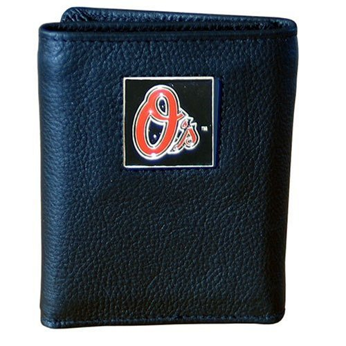 MLB Baltimore Orioles Genuine Leather Tri-fold Wallet