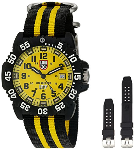 - Luminox Men's 'Scott Cassell' Swiss Quartz Resin and Rubber Watch, Color:Black (Model: 3955.SET)
