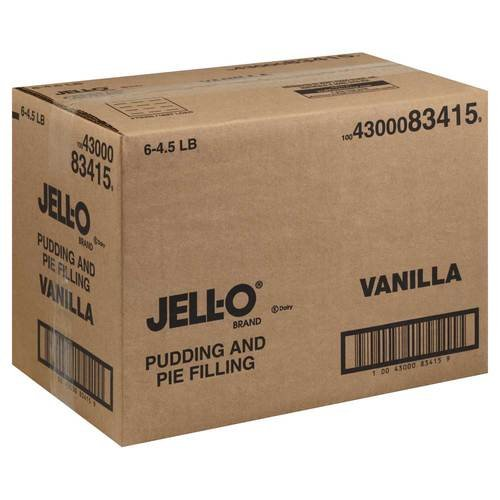 Pudding Jello Pudding & Pie Filling Vanilla 6 Case 4.5 Pound by Jell-O