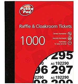 pukka pads value cloakroom raffle ticket number pad pack of 6