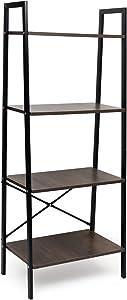 Easeurlife Vintage Ladder Shelf, 4-Tier Bookcase, Multifunctional Ladder-Shaped Plant Flower Stand Storage Shelves