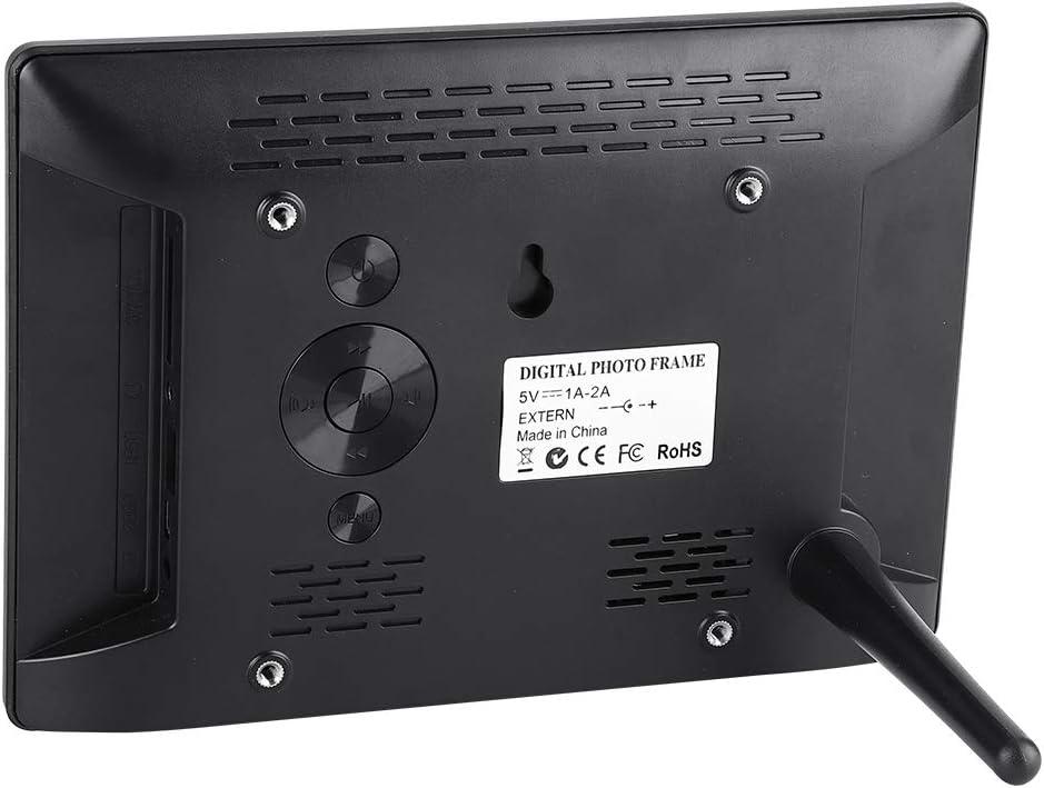 Alarm Photo Frame Digital Photo Picture Frame with Remote Control IPS Screen AC 100-240V-Black Simlug Digital Photo Frame