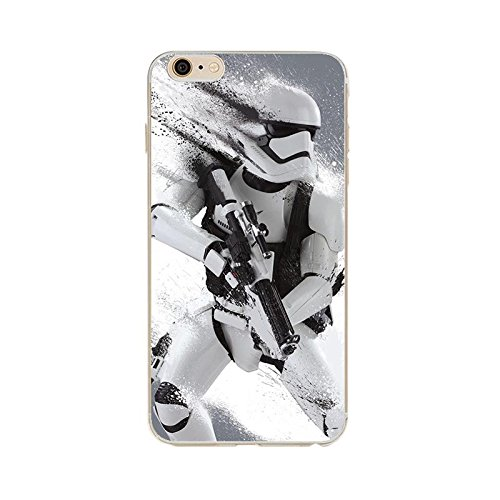 iPhone 7 Star Wars Silicone Phone Case / Gel Cover for Apple iPhone 7 / Screen Protector & Cloth / iCHOOSE / Stormtrooper Splatter