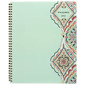 """AT-A-GLANCE Weekly / Monthly Planner / Appointment Book 2018, 8-1/2 x 11"""", Marrakesh, Light Green (182-905)"""