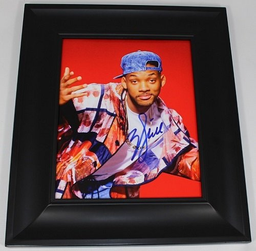 (The Fresh Prince of Bel-Air Will Smith Hand Signed Autographed 8x10 Glossy Photo Gallery Framed Loa)