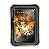 Windproof Refillable Oil Lighter with Tin Gift Box Marines Design-005