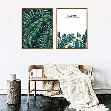 Nordic Pequeña Planta Tropical Fresca Cactus Dibujo ...