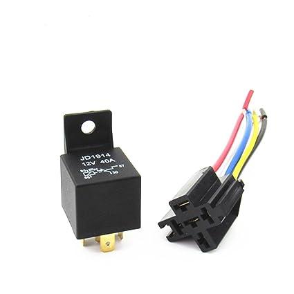Amazon.com: Wanheyaog 2x 5-Pin Relay Automotive Relay SPDT ... on